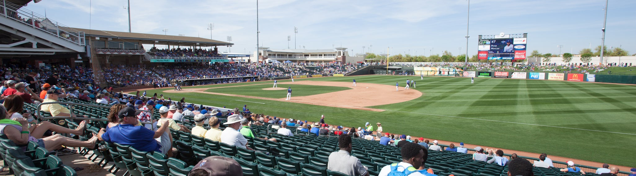 Seat view from Infield