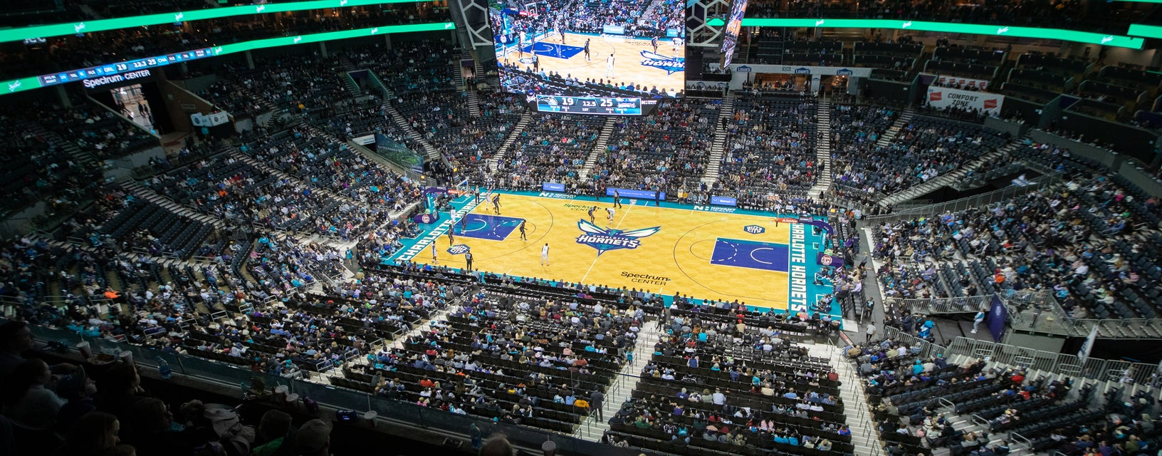 Seat view from Upper Level Center Court