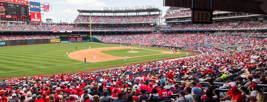 Seat View From Standing Room Only At Nationals Park